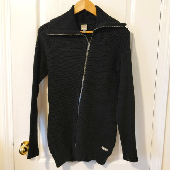 BENCH Asymmetrical Zip Knit Sweater Sz S